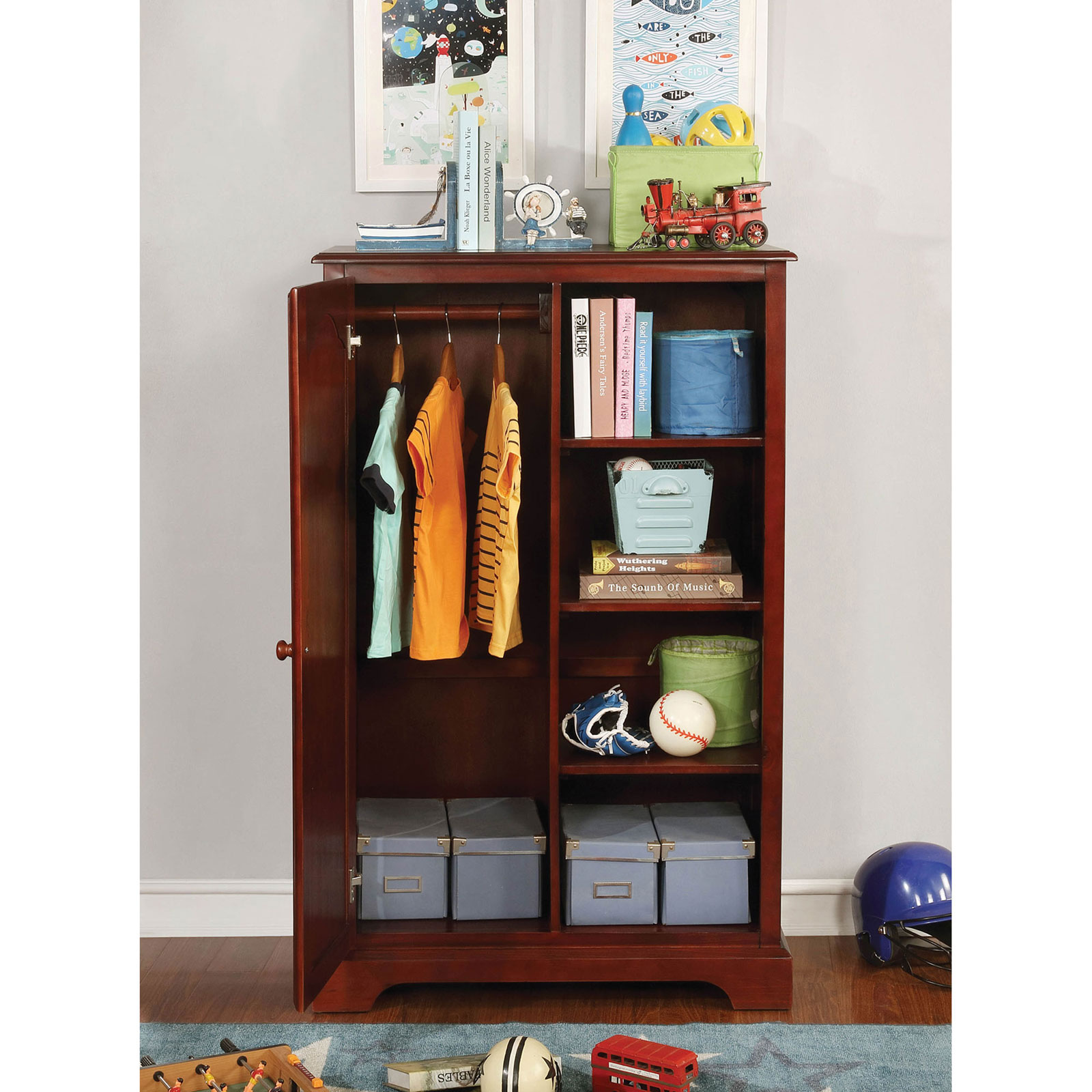 bedroom  youth  diane closet storage transitional cherry